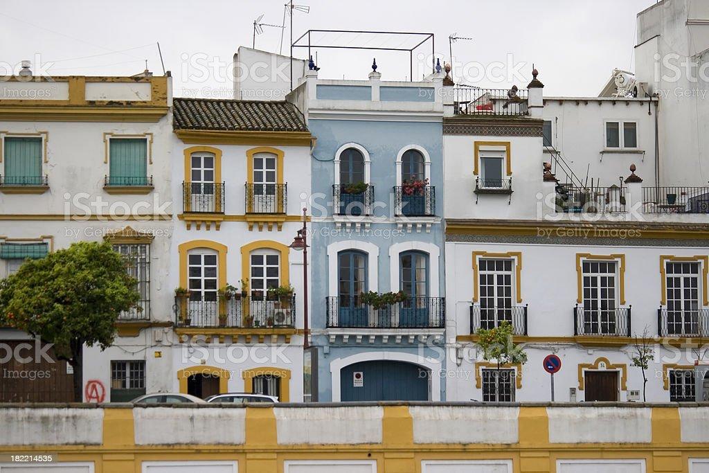 Triana houses in Sevilla royalty-free stock photo