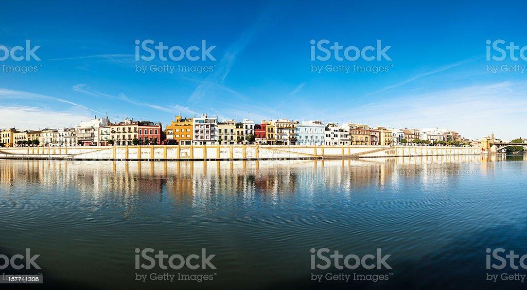 Triana Panorama, Sevilla royalty-free stock photo