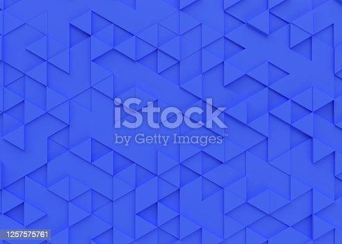 istock Triangle background 3d rendering 1257575761