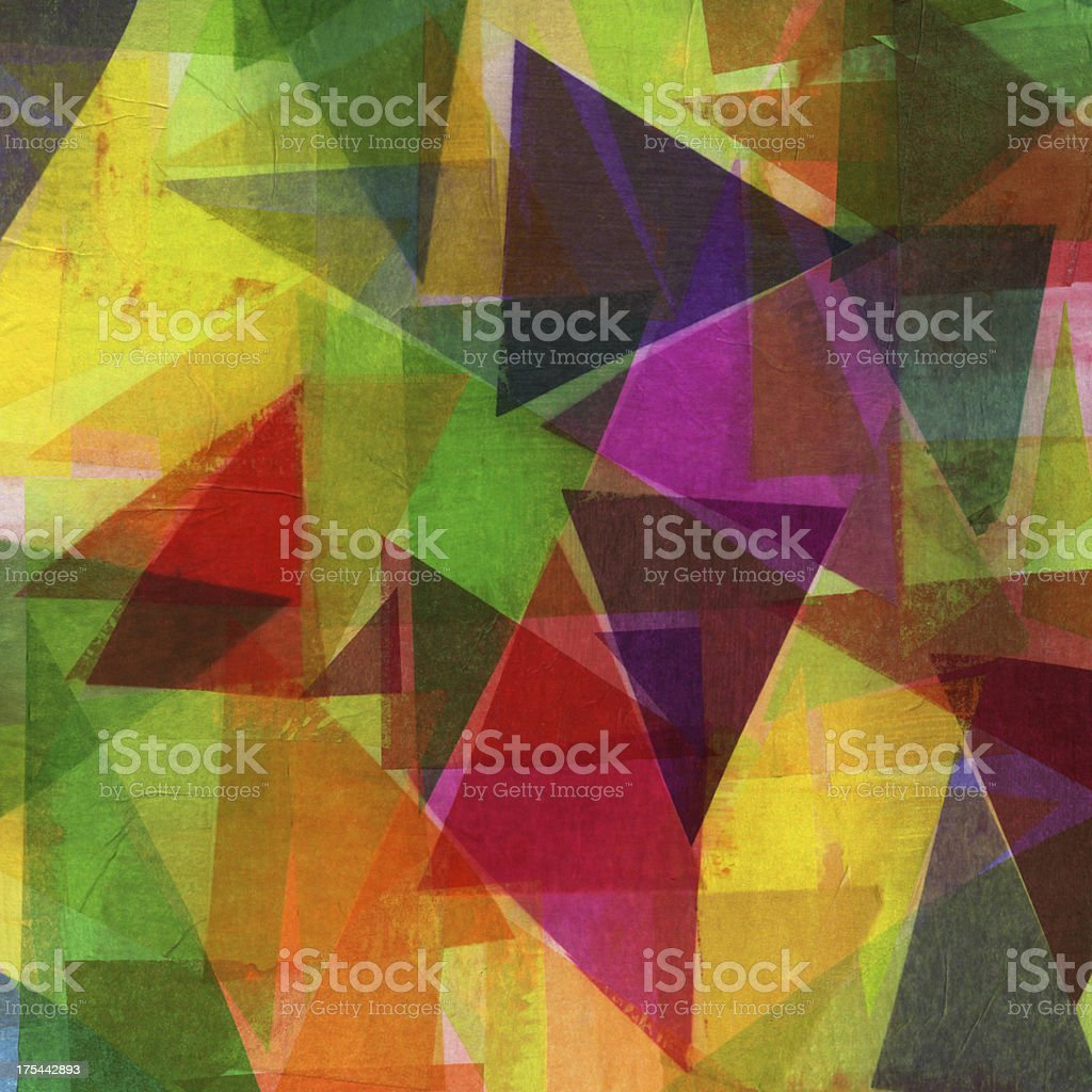 Triangle Collage Art royalty-free stock photo