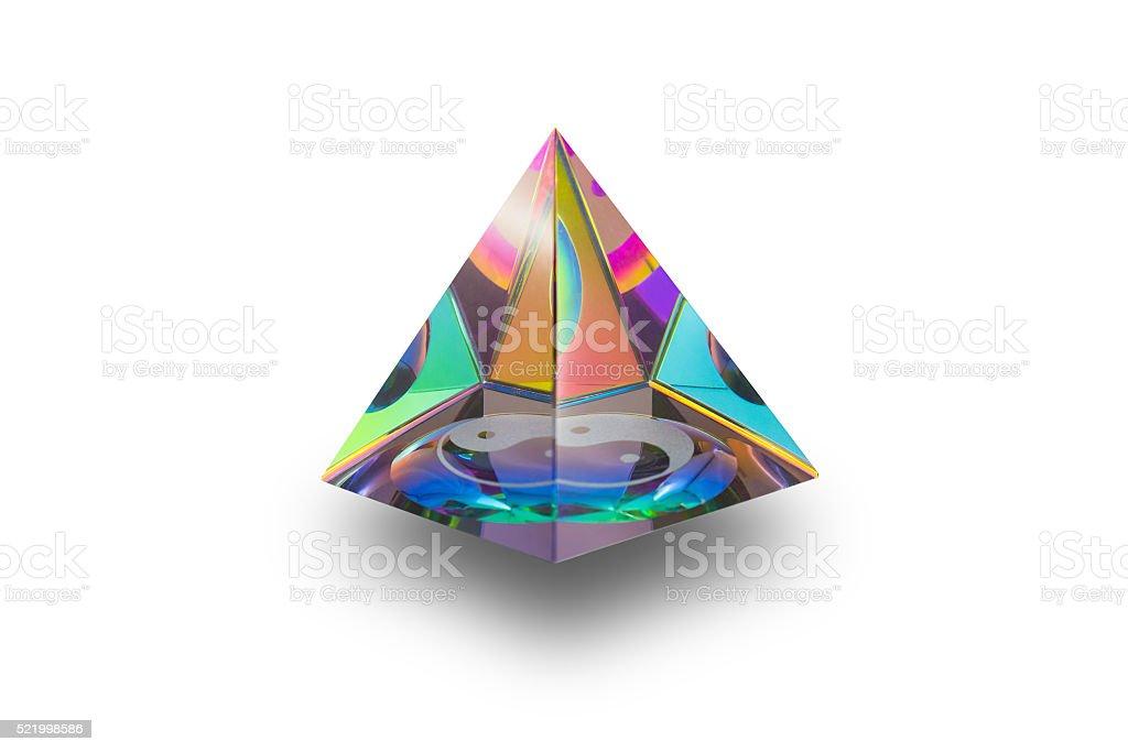 Triangle crystal of Yin Yang stock photo