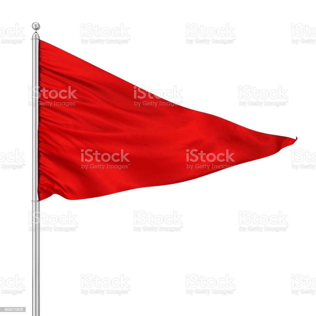 Triangle flag stock photo