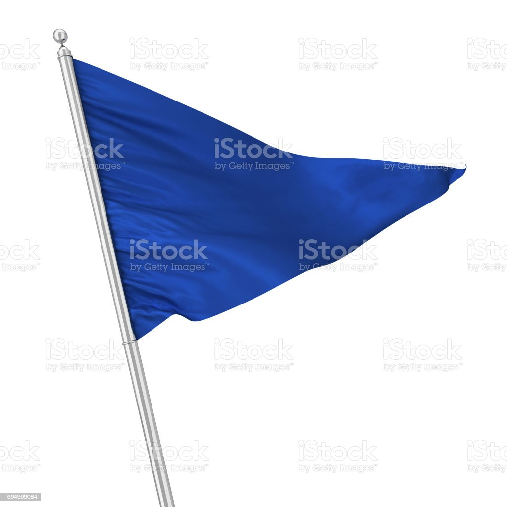 Triangle flag stock photo