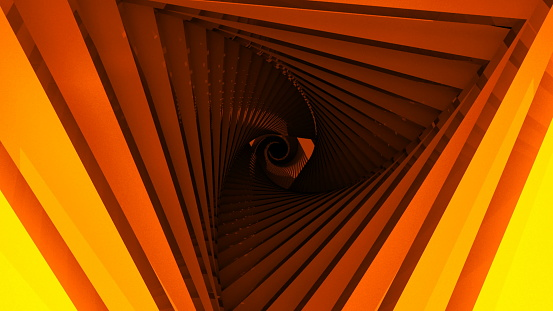 904312598 istock photo Triangle Future Space Tunnel. A Science Fiction Composition 921580596