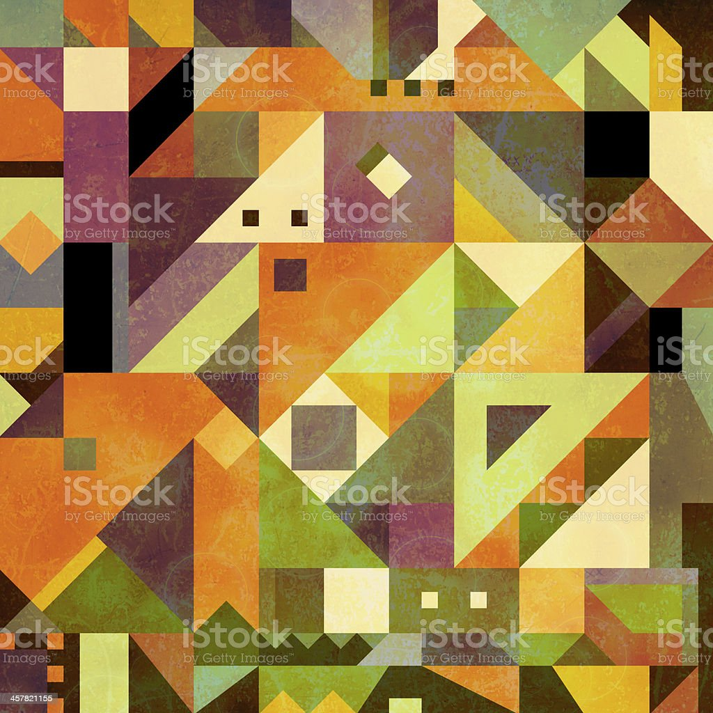 A triangle geometric abstract shapes background stock photo