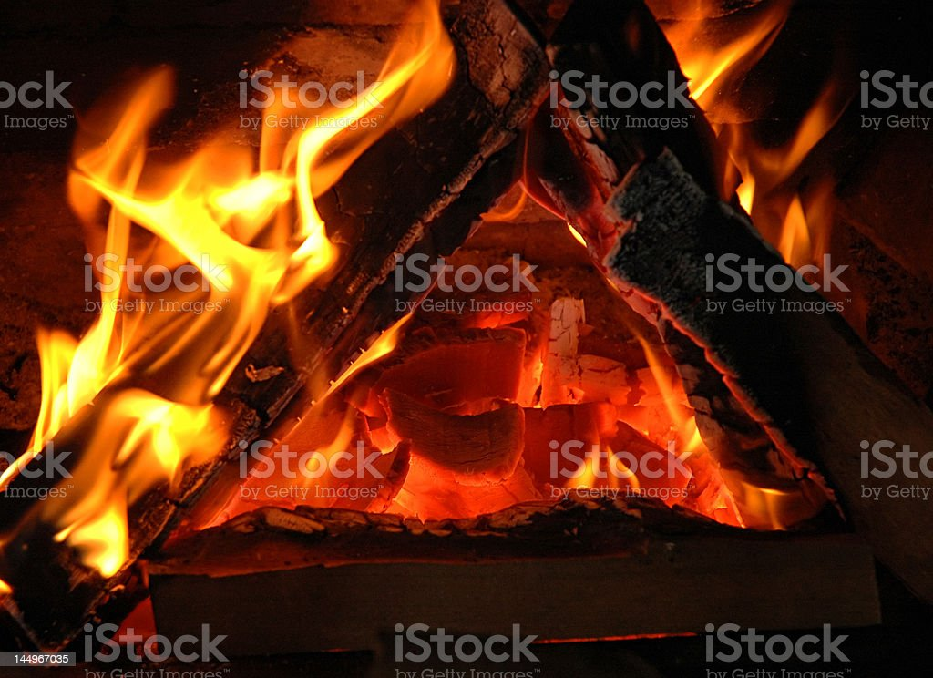 Triangle in flame. royalty-free stock photo