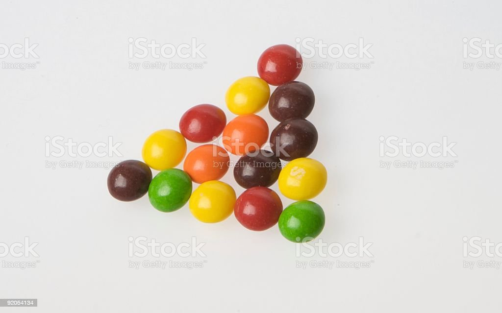 Triangle of Candy royalty-free stock photo