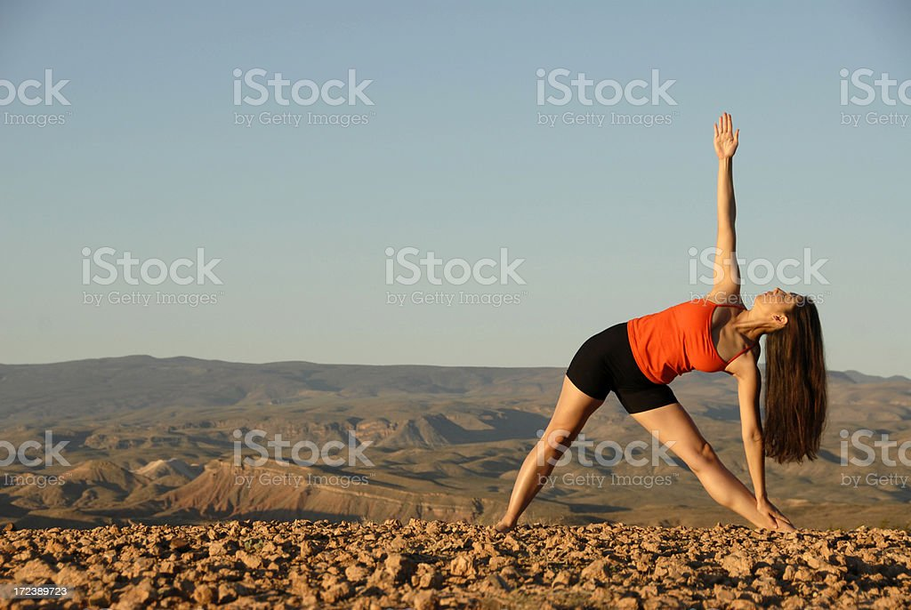Triangle Pose royalty-free stock photo