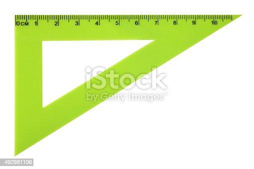 istock Triangle ruler 492981106