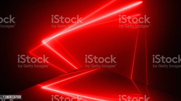 Photo of Triangle Shape, Glowing Neon Lights Abstract Backgrounds