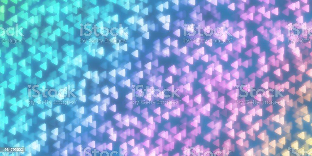 삼각형 모양 Bokeh 배경입니다. 추상 그림 밤 빛 짜임새입니다. 추상 빛나는 양식 배경 막. - 로열티 프리 0명 스톡 사진