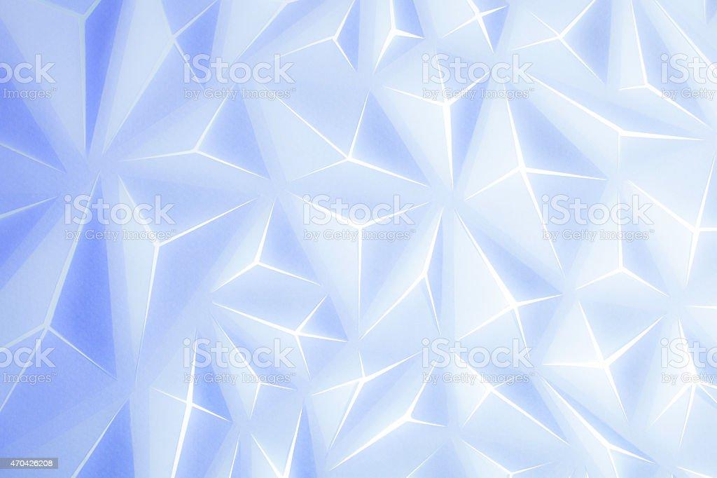 Triangle,Papier,Géometrique,Croix,Etoile,Blanc,bleu,dégradé,Plié, stock photo