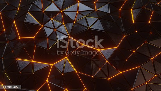 Realistic, plastic triangles texture witch light betwin