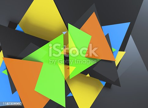 624878906 istock photo Triangular abstract background 1182308960