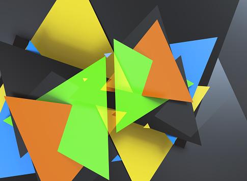 624878906 istock photo Triangular abstract background 1182308960