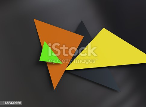 624878906 istock photo Triangular abstract background 1182309766