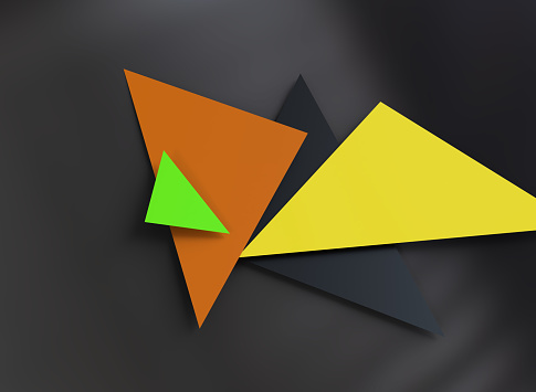 624878906 istock photo Triangular abstract background 1182309766