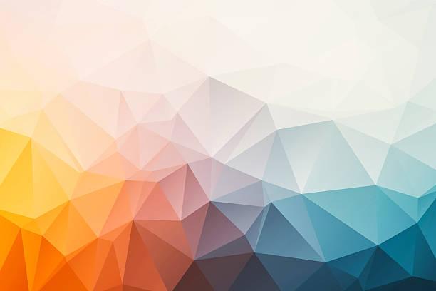 trójkątne abstrakcyjne tło - jaskrawy kolor zdjęcia i obrazy z banku zdjęć