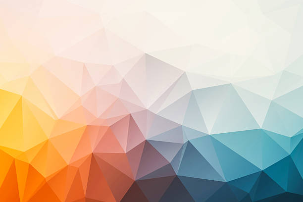 triangular abstract background - geometry stock photos and pictures