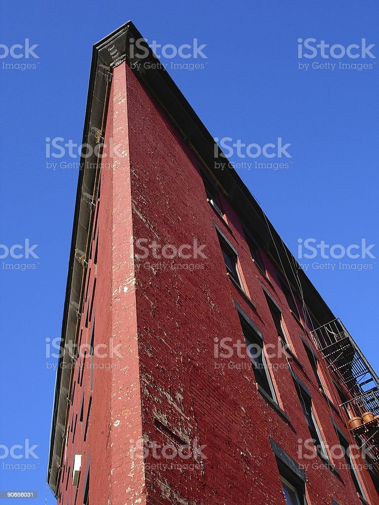 Triangular Apartment Building royalty-free stock photo