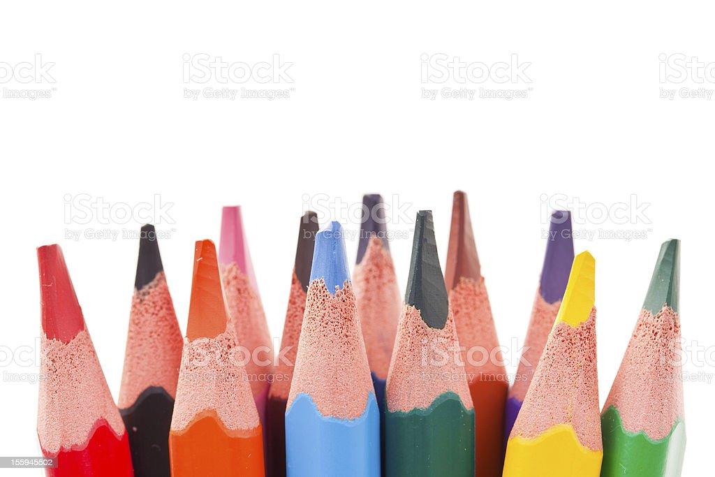 Triangular color pencils royalty-free stock photo
