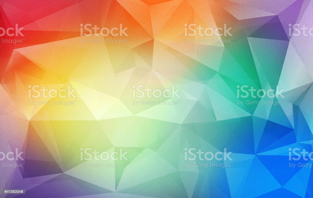 Triangular colorful background stock photo