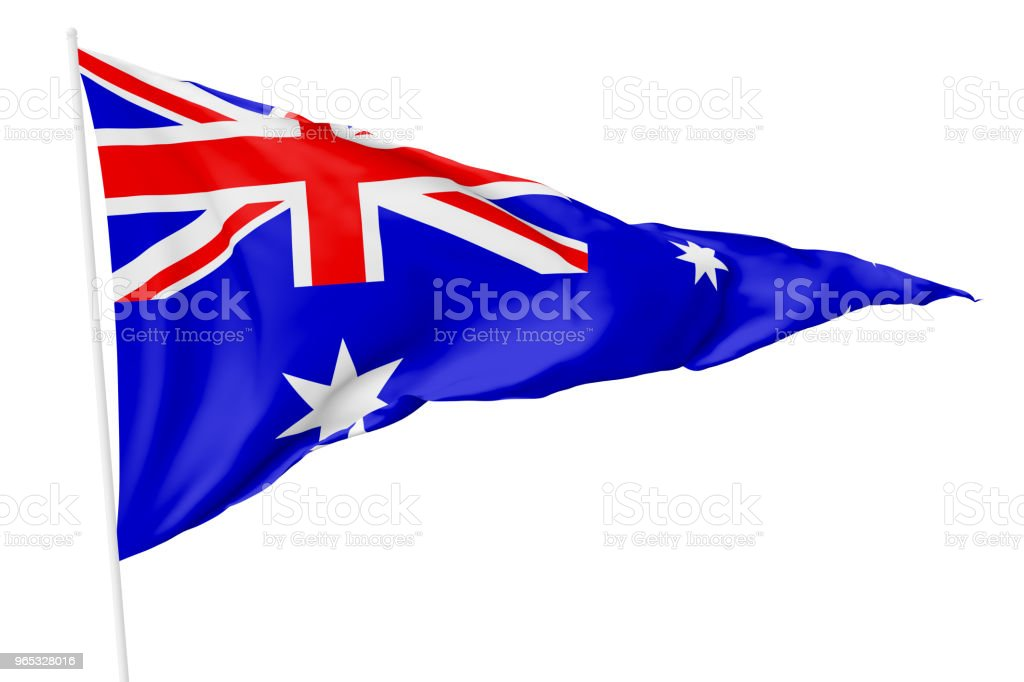 Triangular flag of Australia royalty-free stock photo