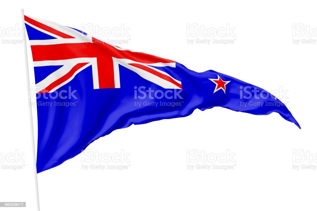 Triangular flag of New Zealand zbiór zdjęć royalty-free