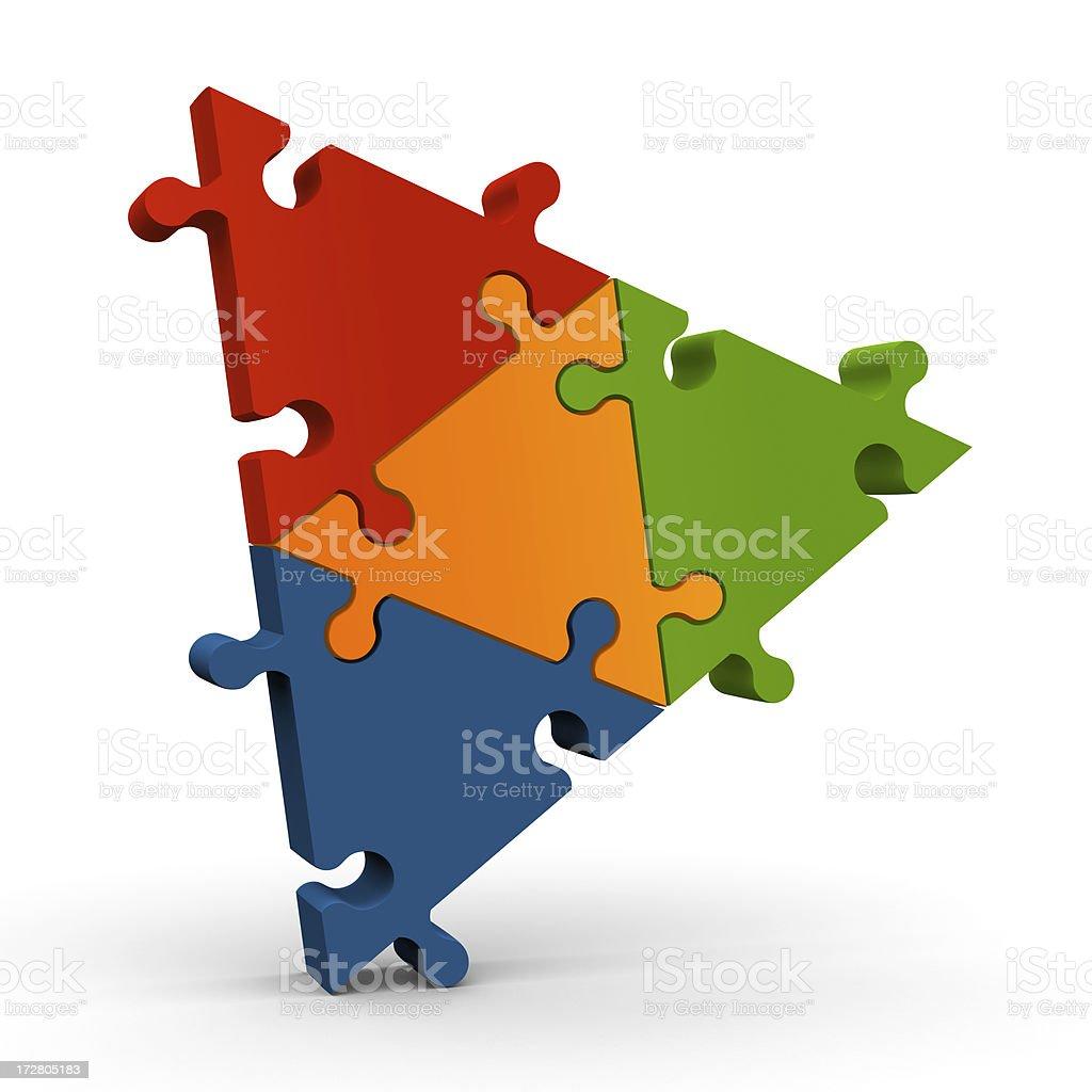 Triangular jigsaw puzzle royalty-free stock photo