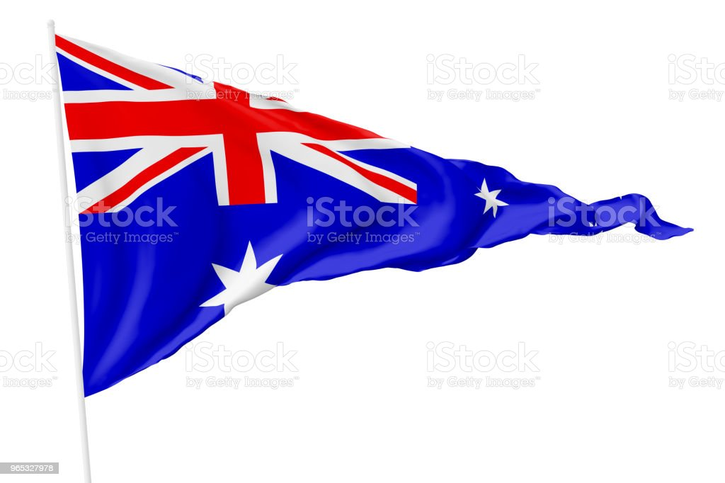 Triangulaire drapeau national de l'Australie - Photo de Australie libre de droits