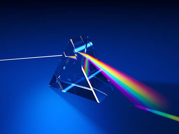 三角形の光のプリズム衝撃 - プリズム ストックフォトと画像