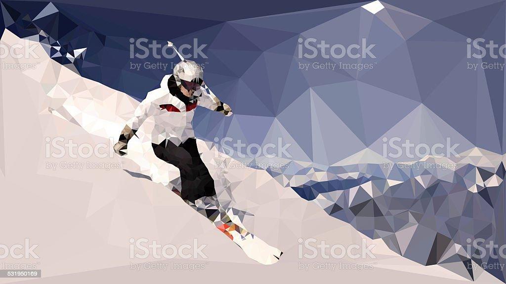 triangular ski stock photo
