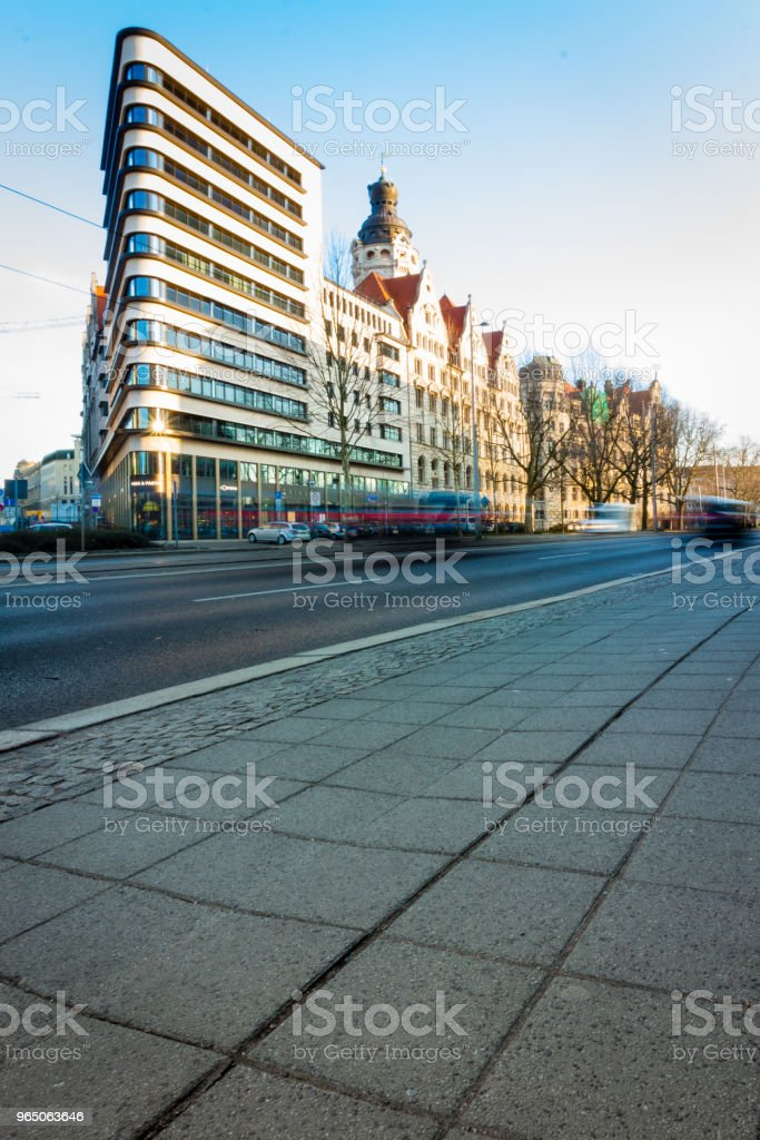 Dreieckiges Hochhaus in Leipzig royalty-free stock photo