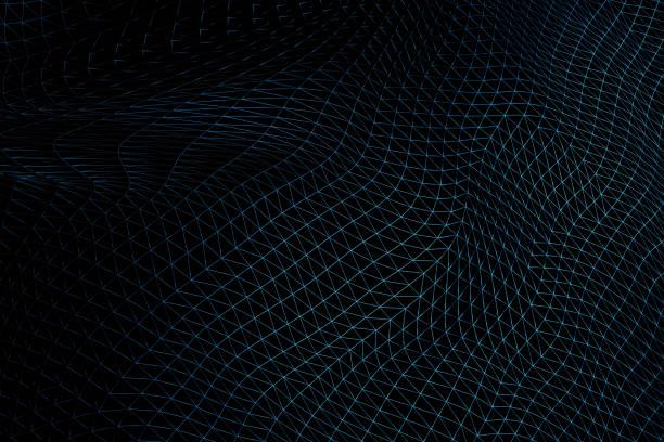 Triangular warped wireframe stock photo