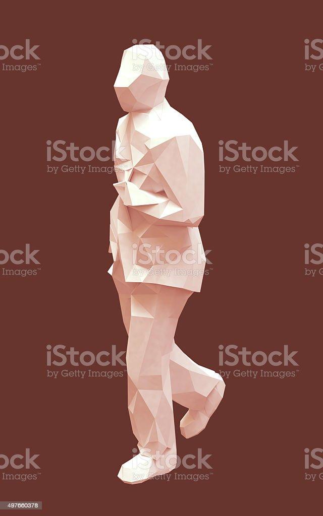 Triangulated man stock photo