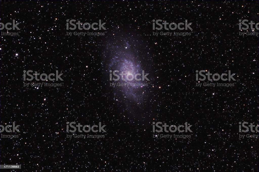 Triangulum Galaxy M33 royalty-free stock photo