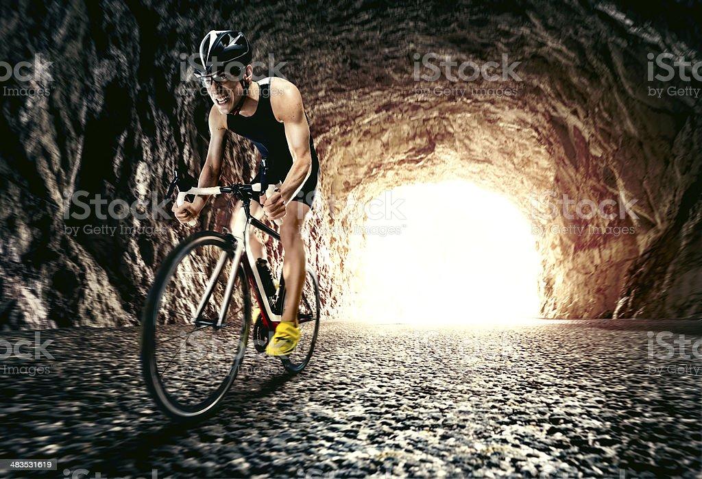 Triathlete stock photo
