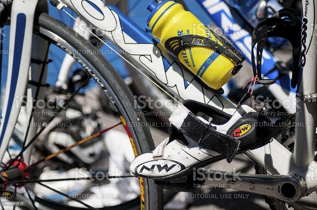 \'Udine, Italy - July 22, 2012: Detail of the equipment needed for the...