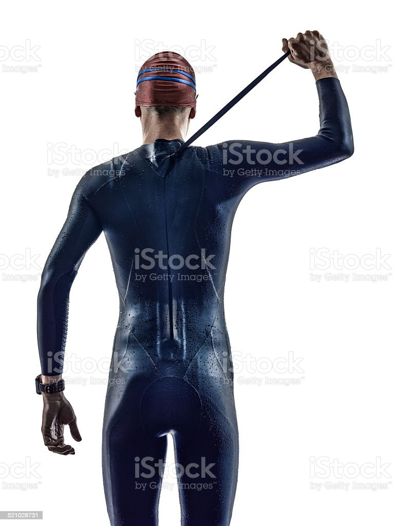 triathlon man athlete stock photo