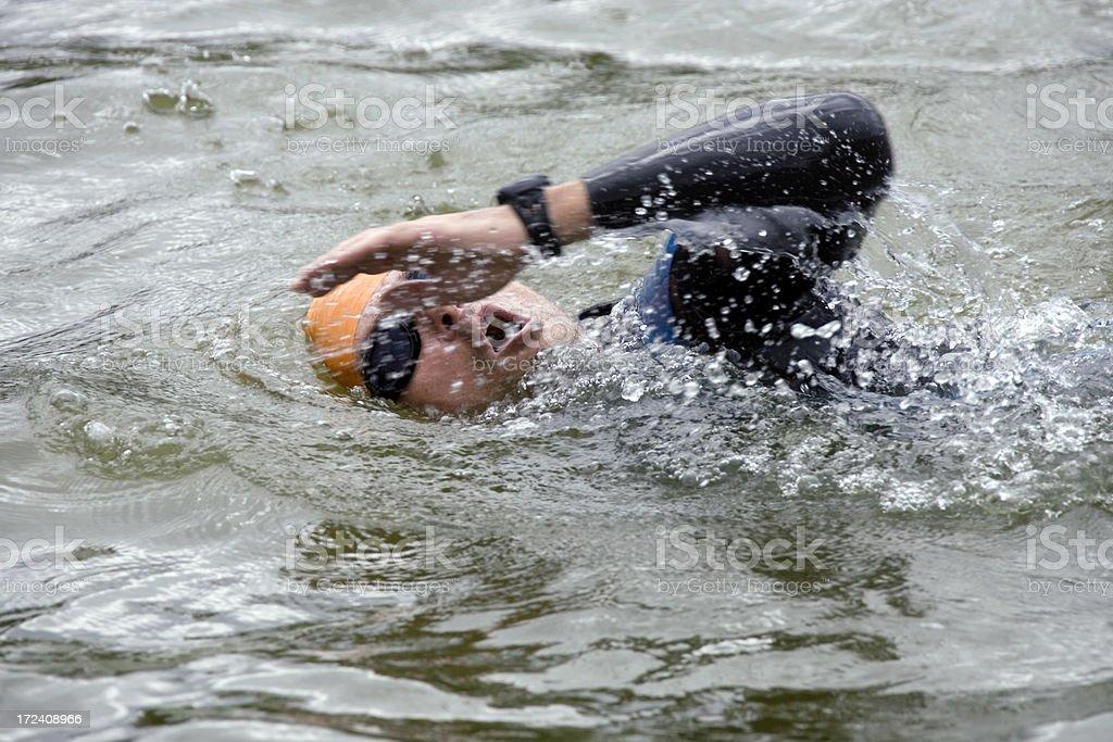 triathlon swimming royalty-free stock photo
