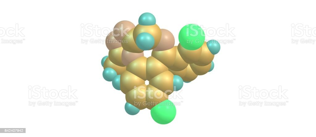 Triazolam molecular structure isolated on white stock photo