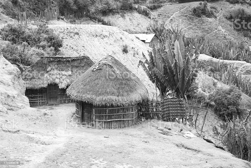 Tribal African Hut royalty-free stock photo