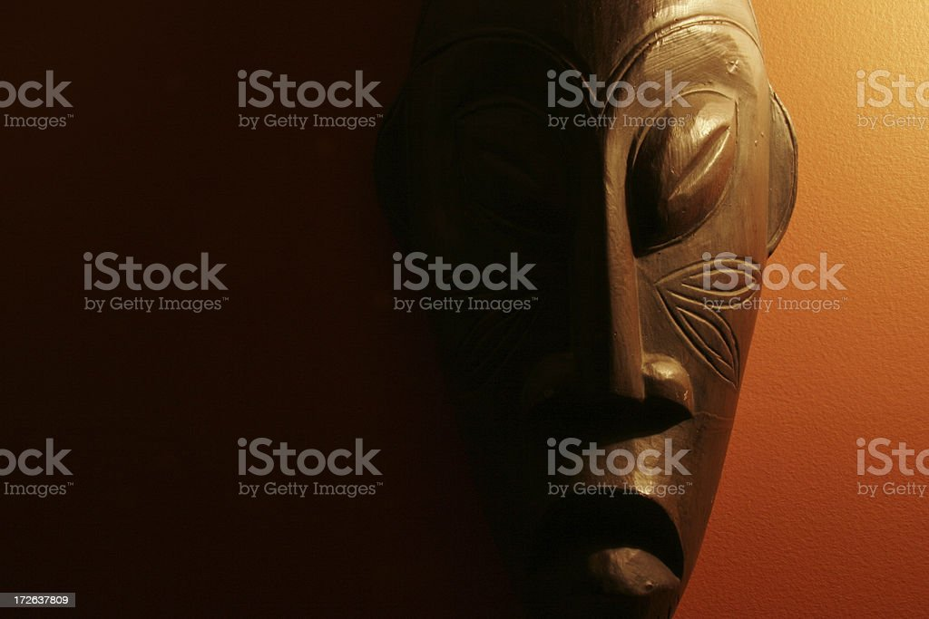 Tribal African mask stock photo