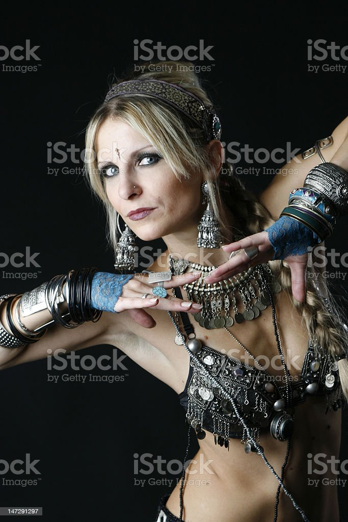 tribal dancer royalty-free stock photo