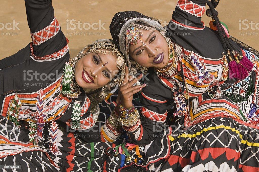Tribal Dancers royalty-free stock photo