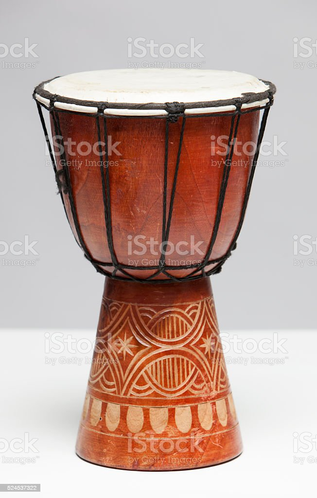 Tribal Drum Isolated on White stock photo