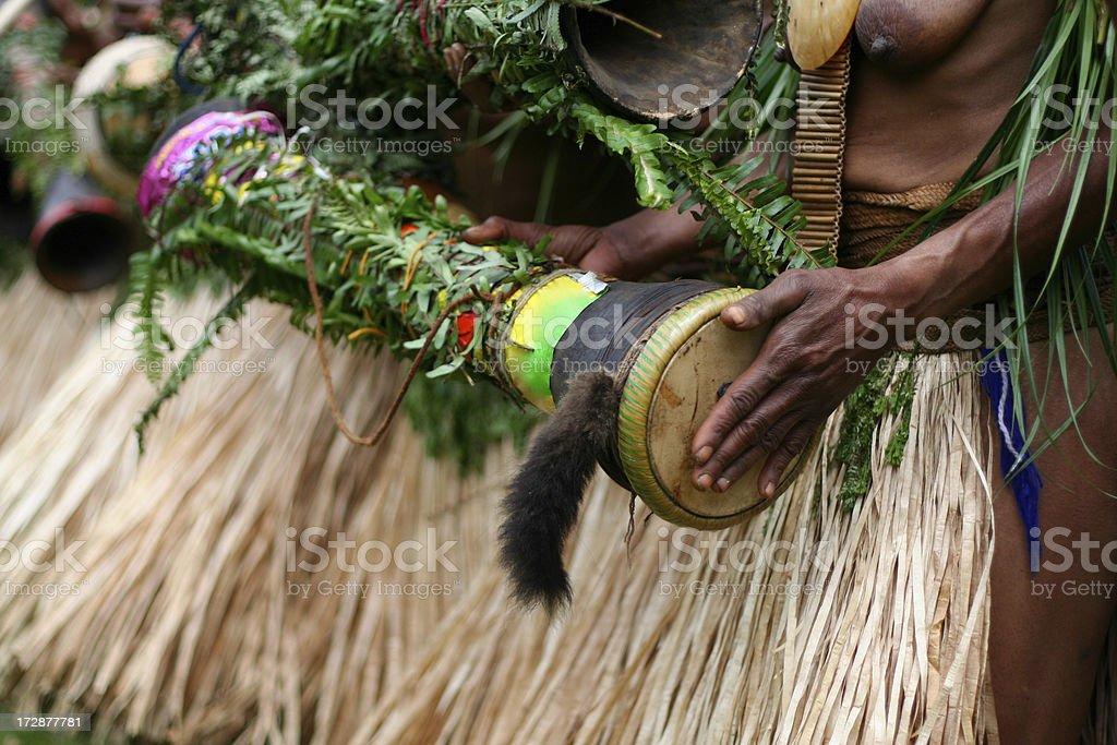 Tribal Drum stock photo