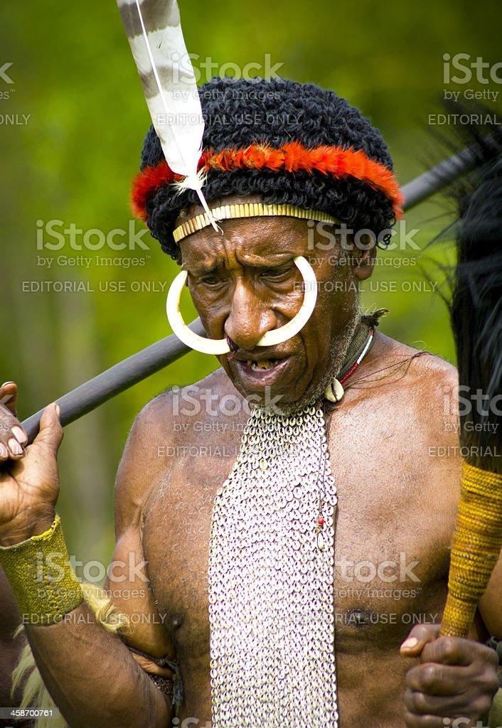 Tribal Face stock photo