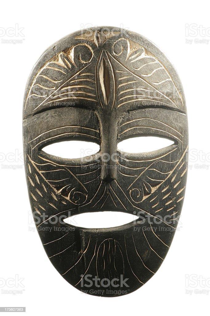 Tribal Mask on White royalty-free stock photo