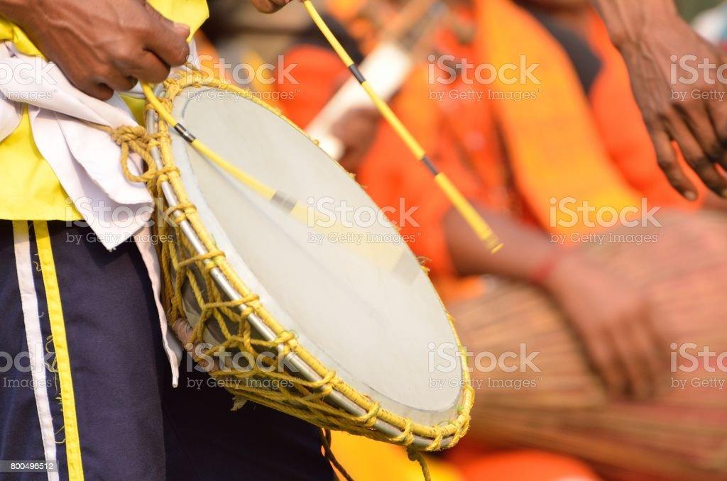 Tribal music stock photo